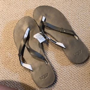 UGG Ally thong sandals, silver